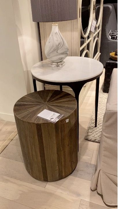 Marble and Wood Tables